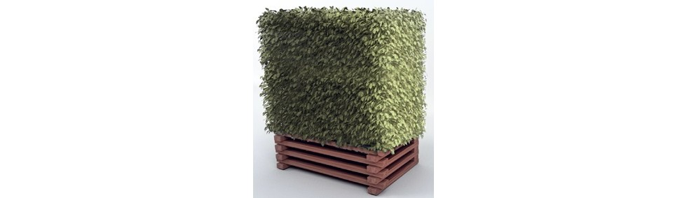 sans marque cache pompe chaleur groupe buisson artificiel avec bac en bois. Black Bedroom Furniture Sets. Home Design Ideas