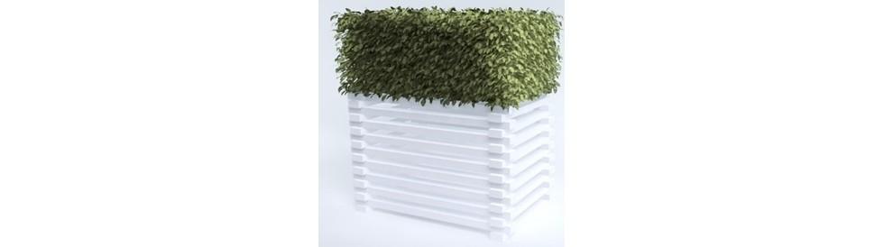 sans marque cache pompe chaleur groupe buisson artificiel dans jardini re. Black Bedroom Furniture Sets. Home Design Ideas